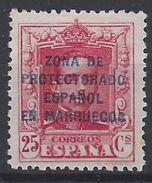 Marruecos 086 (*) Alfonso XII. 1923. Sin Goma - Marruecos Español