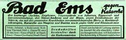 Original-Werbung/ Anzeige 1920 - BAD EMS - Ca. 110 X 35 Mm - Werbung