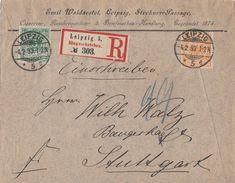 DR R-Brief Mif Minr.46, 49 Leipzig 4.2.93 Gel. Nach Stuttgart - Briefe U. Dokumente