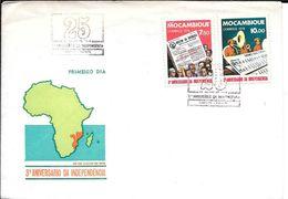 MOCAMBIQUE AN 1978 3R ANIVERSARIO DA INDEPENDENCIA PRIMEIRO DIA SOBRE ENVELOPE - Mozambique
