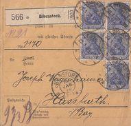 DR Paketkarte Mif Minr.5x 87II, 10x 108 Eibenstock 23.1.20 - Deutschland