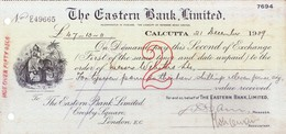 THE EASTERN BANK LIMITED, CALCUTTA BRANCH - 1939 - DEMAND DRAFT, SECOND OF EXCHANGE - Cheques & Traveler's Cheques