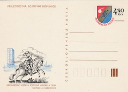 1982 CZECHOSLOVAKIA 4.40k Postal STATIONERY CARD SOCFILEX Illus GALLOPING HORSE  Cover Stamps - Postal Stationery