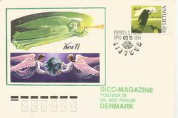 Restauration De La République Lituanienne 1991, Lettre Adressée Au Danemark - Lithuania