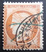 LOT R1595/66 - CERES Du SIEGE De PARIS N°38 - CàD MARSEILLE + Oblitération Au Crayon Bleu - 1870 Siège De Paris