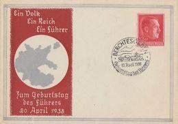 DR Sonderumschlag Zum Geburtstag EF Minr.664 SST Berchtesgaden 20.4.38 - Briefe U. Dokumente
