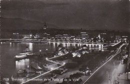 Switzerland Geneve Illumination De La Rade Et De La Ville 1951 Photo - GE Geneva