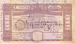 BRITISH INDIA - 1946 - POST OFFICE 5 YEAR CASH CERTIFICATE - ISSUED FROM KHENGRAPATTI ON 1946 - Cheques & Traveler's Cheques