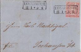 NDP Brief EF Minr.16 R2 Tangermünde 11.1. Gel. Nach Seehausen - Norddeutscher Postbezirk