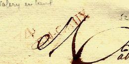 1820 LAC Par François Marcadé à St Valery En Caux (Marque Rouge Faible) Pour Vve Le Couteulx Négociant à Rouen V. SCANS - Marcophilie (Lettres)