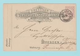 TH13 Entier Postal = Poste Privée De Dresden Hansa  1.12.90+ Ruche D'Abeilles - Api