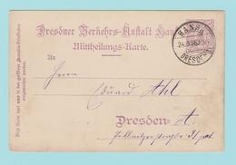 TH13 Entier Postal = Poste Privée De Dresden Hansa  24.9.98 + Ruche D'Abeilles - Api