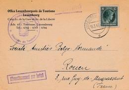 Lettre Carte Imprimé Luxembourg 70c Affranchissement Par Forfait Office Tourisme - Luxemburg