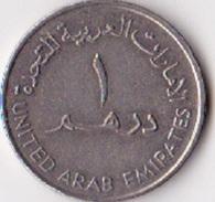 Emirats Arabes  Pièce De 1 Dirham Sultan Zayed Bin (grand Module) 1393-1409 (1973-1989) - Emirats Arabes Unis