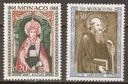 MONACO    -    1968 .  Y&T N° 745 à 746 **.   St-Nicolas  Et  St-Benoit. - Neufs