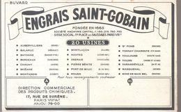 Buvard ENGRAIS SAINT GOBAIN 20 USINES 17, Rue De Surène Paris - Agriculture