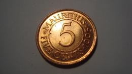 MONNAIE MAURITIUS 5 CENTS 1995 - Mauritius