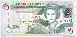 East Caribbean States - Pick 47 - 5 Dollars 2008 - Unc - Caraibi Orientale