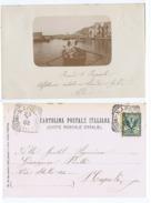 POZZUOLI ( NAPOLI ) MARINAI IN BARCA - CARTOLINA FOTOGRAFICA 1902 ( 1437 ) - Pozzuoli