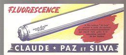 Buvard CLAUDE PAZ Et SYLVA Lumière Fluorescence - Electricity & Gas