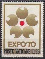 479 Vaticano 1970 Emblema Expo Osaka '70 MNH - Francobolli