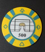 "Rare Jeton De Cercle De Jeu Parisien ""500 (€) Cercle Wagram"" Arc De Triomphe - Casino Token - Jeton De Casino - Casino"