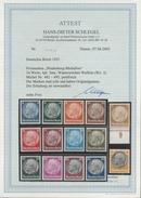 Deutsches Reich 1933 Hindenburg WZ Waffeln 482/95 Postfrisch Geprüft Attest - Unused Stamps