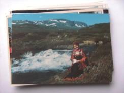 Noorwegen Norway Norge Bunad Fra Hallingdal Traditional Clothes - Noorwegen