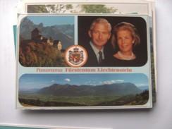 Liechtenstein With Nice Stamps Behind - Liechtenstein