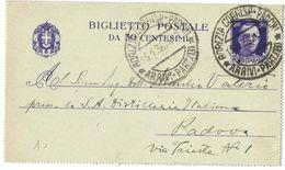 R748) V.E.III BIGLIETTO POSTALE 50 C. IMPERIALE 1931 VIAGGIATO - Interi Postali