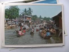 Azië Asia Thailand Bangkok Floating Market Wat Sai - Thailand