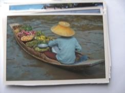 Azië Asia Thailand Bangkok Floating Market Nice - Thailand