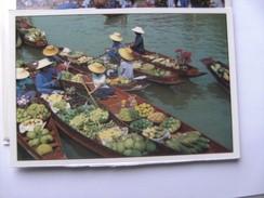 Azië Asia Thailand Bangkok Floating Market Rajburi Province Damnernsaduak Boats - Thailand