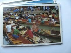 Azië Asia Thailand Bangkok Floating Market Rajburi Province Damnernsaduak Busy - Thailand