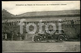OLD POSTCARD PALAIS GOUVERNEUR BANGUI CHARI CENTRAL AFRICAN REPUBLIC FRANCE COLONIE AFRICA AFRIQUE  CARTE POSTALE - Postkaarten