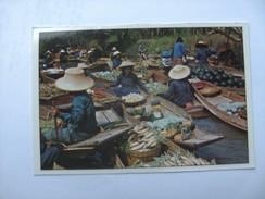 Azië Asia Thailand Bangkok Floating Market Rajburi Province Damnernsaduak Many Women - Thailand