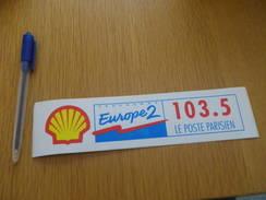 Autocollant - RADIO EUROPE 2 - PARIS SHELL - Autocollants