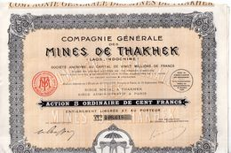 Mines De Thakhek ( Laos - Indochine ) - Industrie