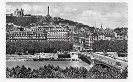 (RECTO / VERSO) LYON EN 1955 - N° 33 - PONT LAFAYETTE - FORMAT CPA VOYAGEE - Lyon