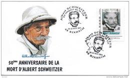 FRANCE 2015 FDC + Cachet + MonTimbraMoi MTAM SCHWEITZER Rencontres AFAAS Rixheim Nobel 2 - Albert Schweitzer