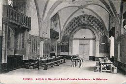 Cpa VALOGNES 50 Collège De Garçons & Ecole Primaire Supérieure - Le Réfectoire - Valognes