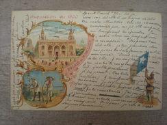 Exposition De 1900, Palais Du Mobilier, Cuba, 1901, Timbre  (X2) - Ausstellungen
