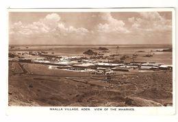 Yemen - Maalla Village - Aden - View Of The Wharves - 1953 - Photo Card - Harbour / Haven / Port - Yémen