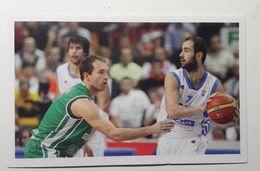 Slovenia Basketball Cards Stickers Nr.200 Samo Udrih Vassilis Spanoulis  EUROBasket - Stickers