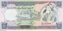 SYRIA 25 LIRA 1991 P-102 UNC */* - Syrië