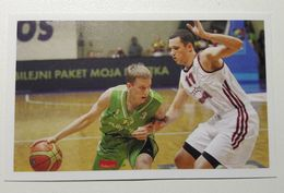 Slovenia Basketball Cards Stickers Nr.189 Slovenia : Latvia - Stickers