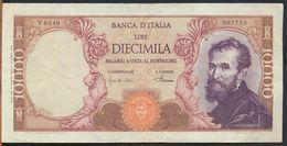 °°° ITALIA - 10000 LIRE MICHELANGELO 04/01/1968 SERIE V °°° - [ 2] 1946-… : Repubblica