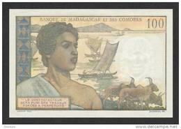 COMOROS P.  3b 100 F 1963 UNC - Comores