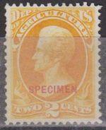 ETATS-UNIS - USA - United States Of América - Timbres De Service Agriculture 1873 - N° 2 - Neuf Sans Gomme - 1847-99 Emissions Générales