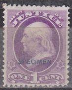 ETATS-UNIS - USA - United States Of América - Timbres De Service Justice 1873 - N° 46 - Neuf Sans Gomme - 1847-99 Emissions Générales